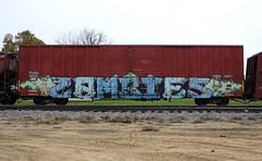 Zombies (quiet-silence) Tags: graffiti graff freight fr8 train railroad railcar art zombies zee boxcar nkcr nkcr65681