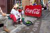 Coca-Cola (klauslang99) Tags: streetphotography klauslang cocacola medina morocco people sitting fruit display slogan chef chefchaouen