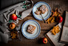 Autumn feast (katarri) Tags: nikon nikond750 d750 nikkor 50mm food foodie dessert sweet sweets treat autumn fall november apple apples applepie pie homemade baking cooking leaf leaves book books cake wood wooden rustic vintage eating feast afternoon indoor interior naturallight windowlight plate plates spoon teaspoon oldschool stillife still life canvas fabric poland polska yellow beige brown black dark light red golden white blue orange cusine kitchen baked bakery delicious yummy