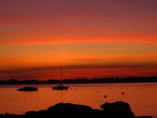 coucher de soleil à Carnac