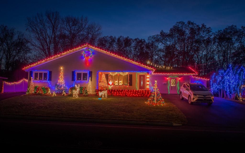 residential christmas display jlucierphoto tags christmas lites display holidays - Christmas Lites