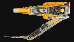 Resh (r) Starfighter - FBTB (goatman461) Tags: fbtb alphabet fighter starfighter starwars lego asymetrical