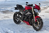 Street Triple Diablo Red in Snow (Fredrik Svanholm) Tags: diablored triump street triple 675 triumphstreettriplediablored snow motorcycleinsnow