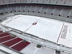 no snow on the Block O (brown_theo) Tags: ohio stadium snow endzone 50 yard line osu buckeyes buckeye football columbus state university