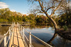 serenity + a fence (Dotsy McCurly) Tags: nature beautiful water lake reflections sky dock fence hff trees park nj newjersey autumn colors nikond750 tamron18400mmf3563