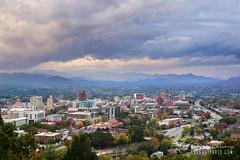 Asheville Skyline (Brad Lackey) Tags: asheville northcarolina skyline blueridgemountains fall autumn cityscape overlook cloudy storms rain 828isgreat avl downtown wnc myfavoritecity nikon35mmf18 d7200