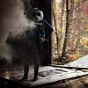 Knock down the door (interrailing) Tags: abandoned quarry ohio menacingpanda mask panda eagle trailerpark