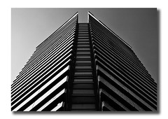 Chevrons (Joseph Pearson Images) Tags: building architecture hotel abstract rseifert blackandwhite mono bw