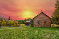 A romantic countryside sunset (Sublime-Focus) Tags: romantic countryside sunset house cabin small home adirondack upstate new york quiet summer