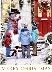Postcrossing US-5006646 (booboo_babies) Tags: christmas winter dog children holiday postcrossing snowman snow