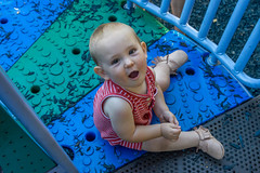 Happy First Birthday! (Pejasar) Tags: oklahoma tulsa lafortunepark youngest grandson portrait baby boy color playground park birthday first