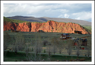 Red cliffs in Colorado's Roaring Fork valley