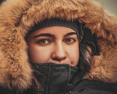 *** (donnicky) Tags: mariiabobrovskaia closeup clothes face frontview fur girl headshot lookingatcamera oneperson onlywomen outdoor portrait publicsec warmclothing