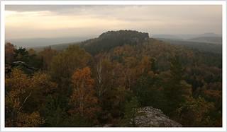 trüber Herbst im Elbsandstein