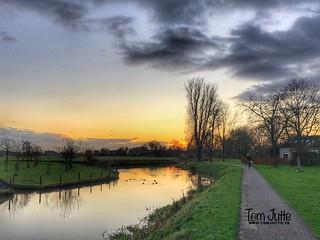 Sunset, Kromme Rijn, Odijk, Netherlands - 0355