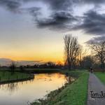 Sunset, Kromme Rijn, Odijk, Netherlands - 0355 thumbnail