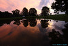 The Dusk I See #3...3 More Minutes (Walt Snyder) Tags: canoneos5dmkiii canonef1635mmf28liiusm dusk reflections abstract pond portrait clouds nature sunset trees