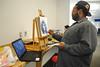 DSC_0002 (chapelhillpubliclibrary) Tags: africanamerican art chillin mediumshot teen male