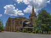 Looking North - St Andrew's Presbyterian Church - Forrest - ACT - Australia - 20171124 @ 13:47 (MomentsForZen) Tags: forrest australiancapitalterritory australia au momentsforzen mfz hasselblad 501cm cfv50c lightroom autopanogiga wideanglelens church presbyterianchurch standrews standrewschurch exterior nave tower spire gothic gothicarchitecture panorama