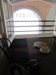 Morning coffee in the palace. Madrid (d.kevan) Tags: madrid spain cafés arches coffee toast windows
