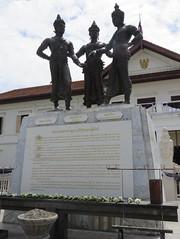 Three Kings Monument (Chiang Mai, Thailand) (courthouselover) Tags: thailand เมืองไทย mueangthai ประเทศไทย prathetthai siam สยาม kingdomofthailand ราชอาณาจักรไทย ratchaanachakthai chiangmai เชียงใหม่ เทศบาลนครเชียงใหม่ chiangmaiprovince จังหวัดเชียงใหม่ asia southeastasia statues associationofsoutheastasiannations asean အရှေ့တောင်အာရှနိုင်ငံများအသင်း samahanngmgabansasatimogsilangangasya perhimpunanbangsabangsaasiatenggara សមាគមប្រជាជាតិអាស៊ីអាគ្នេយ៍ ສະມາຄົມປະຊາຊາດແຫ່ງອາຊີຕະເວັນອອກສຽງໃຕ້ persatuannegaraasiatenggara 东南亚国家联盟 தென்கிழக்காசியநாடுகளின்கூட்டமைப்பு สมาคมประชาชาติแห่งเอเชียตะวันออกเฉียงใต้ hiệphộicácquốcgiađôngnamá