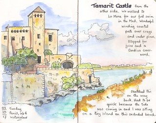 Tamarit Castle, with the tide coming in ...