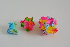 Aquileia Kusudamas (Byriah Loper) (Byriah Loper) Tags: origami origamimodular modularorigami modular paperfolding paper polygon polyhedron byriahloper byriah kusudama