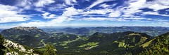 From the top (tomas.jezek) Tags: kehlstein berchtesgaden salzburg panorama landscape alps mountains sky forests trees village city view viewpoint blue green nature land wide deutschland österreich vista
