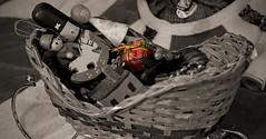 Sleigh Full of Toys - Take II (BKHagar *Kim*) Tags: bkhagar sleigh selectivecolor toys present package sepia