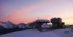 Speikboden 2400m (Körnchen59) Tags: speikboden ahrntal italien italy südtirol sessellift sonnenaufgang sunrise körnchen59 elke körner sony schnee snow menschen