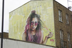 Irony graffiti, Camden (duncan) Tags: graffiti camden irony girl