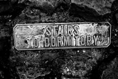 Stairs to Dormitory (zawtowers) Tags: green chain section 1 walk thamesmeadtolesnesabbey sunday 12th november 2017 dry cold amble stroll walking south east london suburbs lesnes abbey park lesnesabbeylesnes ruins closed 1534 dissolution stairs dormitory black white monochrome mono