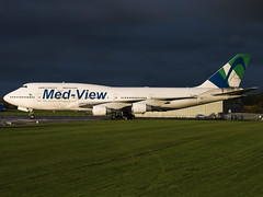 Med-View Airline | Boeing 747-412 | TF-AMV (Bradley's Aviation Photography) Tags: b747 tfamv medview medviewairline kembleairfield kemble cotswold cotswoldairport airatlanta boeing747412 canon70d jumbojet gba