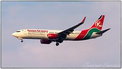 Kenya Airways 737 (Jwalant Swadia) Tags: nairobi kenya kenyaairways boeing boeing737 morning aircraft airways