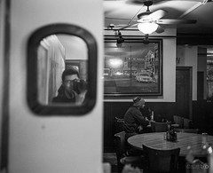 Cafe Self-Portrait (Taomeister) Tags: hc110b berggerpancro400 plaubelmakina670 nikkor80mmf28