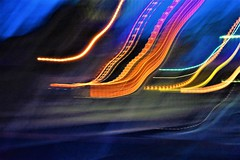 Night lights (thomasgorman1) Tags: trails colors enhanced colorized effects abstract colorization motion nikon