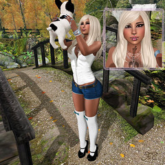 Into the woods! (Maria Charisma) Tags: avatar beautiful blog blogger cheeky clothes clothing fashion fashionblog maitreya mesh meshbody new outfit photo sl secondlife woman puppy
