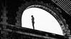 le veilleur. (francis_bellin) Tags: arche bordeaux darwin 2017 noiretblanc statue bronze antonygormley août lacantine caserneniel