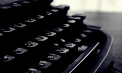 DSC03990-04001 (suzyhazelwood) Tags: typing typewriter vintage creativecommons writing writer sony a6000 black white monochrome