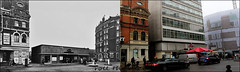 Sloane Square`1955-2017 (roll the dice) Tags: london kensingtonchelsea sw1 sw3 mad sad surreal old streetfurniture architecture local history stage screen actors tube underground roundel changes collection canon tourism tourists cars traffic flats council dwelling rounder retro ww2 war bygone vanished demolished urban england uk art classic oldandnew pastandpresent hereandnow opera exit people entrance blitz crozier play britten offices van site weather raon wet