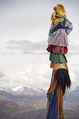 View from Matho Monastery (bag_lady) Tags: buddhism flags ladakh himalayas mathomonastery buddhist monastery mountains roofoftheworld india