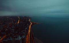 4,677 (Panda1339) Tags: longexposure il vein cinematic dark chicago usa lookdown traffic lakemichigan
