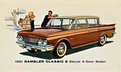 1961 Rambler Classic 6 Deluxe 4-Door Sedan (aldenjewell) Tags: 1961 rambler classic 6 deluxe 4door sedan postcard