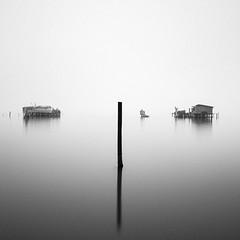 Venice No. 3 (Pat Kelleher) Tags: venice fog water reflection blackandwhite blancoynegro bw minimal tranquil patkelleherphotography