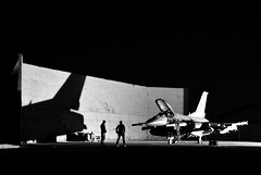 F-16 Deployment (BlakeLewisPhotography) Tags: f16 viper falcon usaf airfare air force united states usa america combat war deployment isis awesome cool sweet nikon d7100 black white silhouette night amazing fun