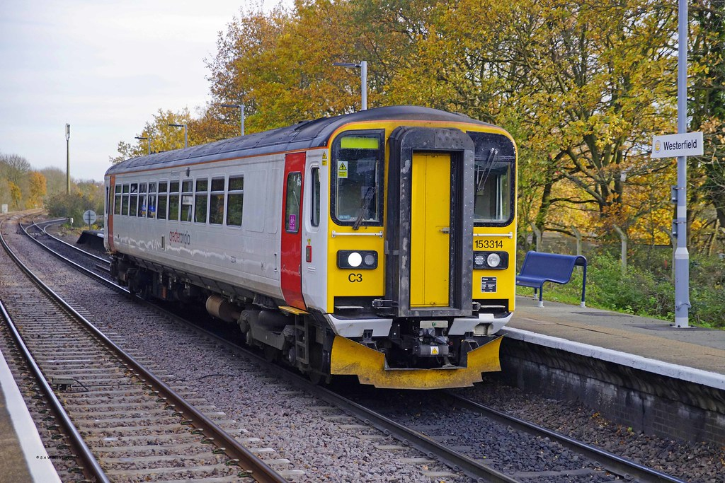 WESTERFIELD 241117 153314 (SIMON A W BEESTON) Tags: westerfield abellio  greater anglia 2r15 153314