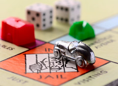 Monopoly (fotofrysk) Tags: macromonday memberschoice gamesorgamepieces monopoly gotojail car hotel home dice board canada ontario thornhill cityofmarkham afsmicronikkor105mm28ged nikond7100 201711267257
