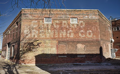 Chicago Brewing Co.! (Grumpy D. Wharf) Tags: illinois rock island ghost sign chicago brewing beer old red brick