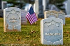 Ultimate Sacrifice (nywheels) Tags: civilwar americancivilwar graves grass gettysburg gettysburgnationalcemetery gettysburgbattlefield gettysburgpennyslvania pennyslvania warbetweenthestates flag americanflag trees bokeh nikon