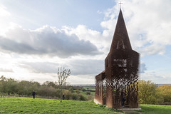 Reading between the lines , Borgloon (bruno vanbesien) Tags: borgloon archipel architecture church grass monument steel belgium be